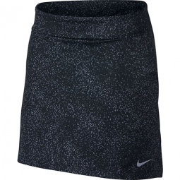 "CLEARANCE Nike Ladies 16.5"" Dry Knit Golf Skorts - Black/Silver"