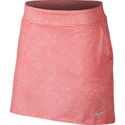"CLEARANCE Nike Ladies 16.5"" Dry Knit Golf Skorts - Sunset Pulse/Silver"