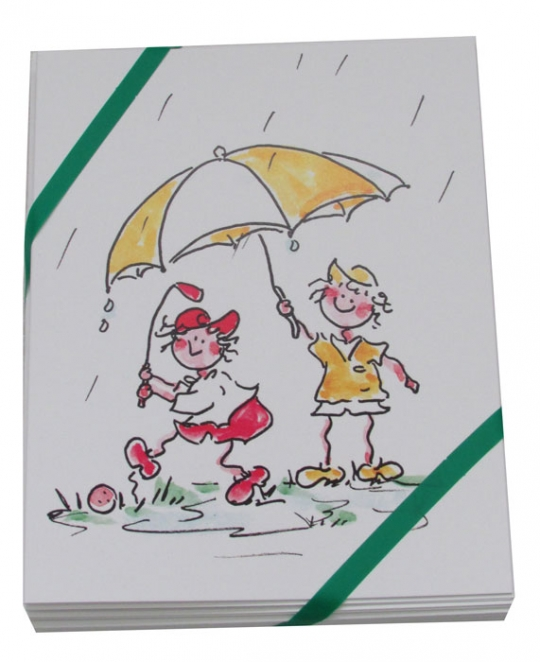 Gal Pals Golf Note Cards (8 Pkg.) - Rainy Golf Gals