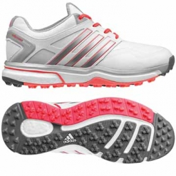 Adidas Ladies Adipower Sport Boost Golf Shoes - Running White/Metallic Silver/Flash Red