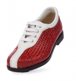 SPECIAL Aerogreen Milano Ladies Golf Shoes - Red/White