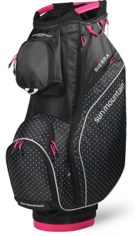 Sun Mountain Ladies 2020 Sierra Golf Cart Bags - Black/White Dot/Pink