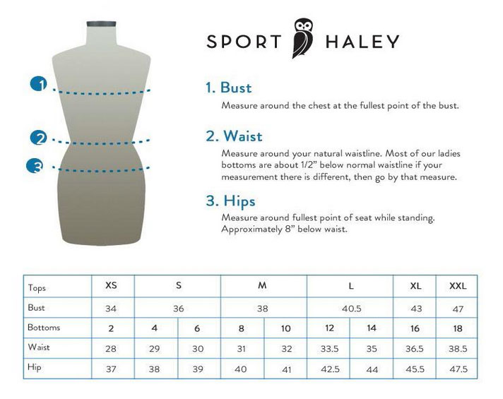 Sport Haley Sizing Chart