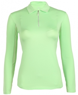CLEARANCE Bette & Court Ladies CE Swing Long Sleeve Golf Polo Shirts - Green Come True (Apple)