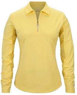 e45d82fab5c4ba Bette   Court Ladies Swing Long Sleeve Polo Golf Sun Shirts - COOL ELEMENTS  (Lemonade