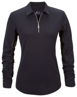 Bette & Court Ladies & Plus Size Cool Elements L/S w/ Collar UV Golf Shirts - Assorted Colors