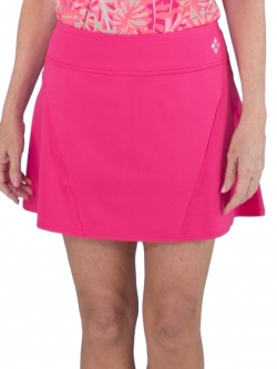 CLEARANCE JoFit Ladies Paneled Swing (Short) Pull On Golf/Tennis Skorts - Pink Lady (Hibiscus)