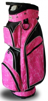 Taboo Fashions Ladies Monaco Lightweight Golf Cart Bags - Pink Brushstrokes