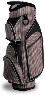 Taboo Fashions Ladies Monaco Lightweight Golf Cart Bags - CheckMate (Black/White/Red)