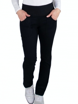 "JoFit Ladies & Plus Size Verve Pant 31 ½"" Inseam Pull On Golf Pants - Essentials (Black)"