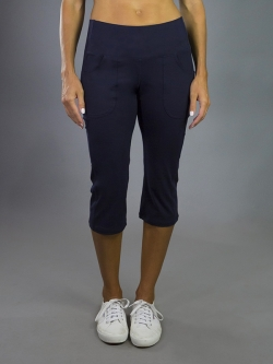 JoFit Ladies & Plus Size Sport Pull On Golf Capris - Paloma (Midnight)