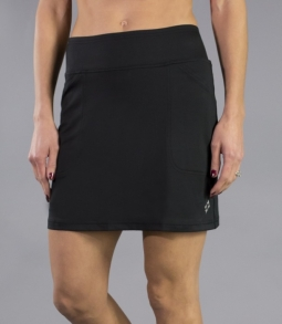 JoFit Ladies & Plus Size Mina (Long) Pull On Golf Skorts - Essentials (Black)