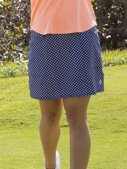 CLEARANCE JoFit Ladies Mina Long Pull On Golf/Tennis Skorts - Madras (Bow Print)