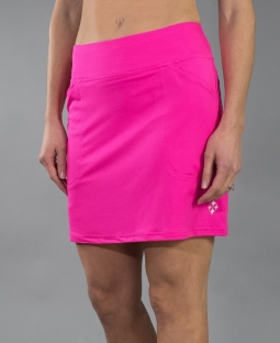 JoFit Ladies & Plus Size Mina Golf Skorts (Long) - Napa (Fluorescent Pink)