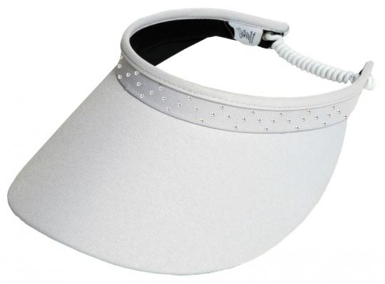 e608618eef2e9d Glove It Ladies Bling Coil Back Golf Visors (w/ Twist Cord) - White