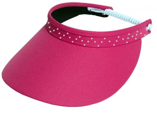 Lori s Golf Shoppe  Glove It Ladies Bling Coil Back Golf Visors (w  Twist  Cord) - Pink Bling Coil d7493242c52