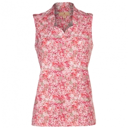 CLEARANCE Sport Haley Ladies Mimi Sleeveless Golf Shirts - Petal Path (Floral Dot)
