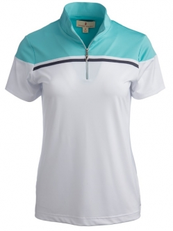CLEARANCE Sport Haley Ladies Aira Short Sleeve Golf Polo Shirts - Isle of Capri