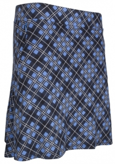 "CLEARANCE Sport Haley Ladies Molly 18"" Pull On Printed Golf Skorts - Mystic Pond (Black)"