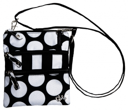 Glove It Ladies Convertible Cross Body 3 Zip Bags - Mod Dot