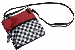 Glove It Ladies 2-Zip Convertible Cross-body Bags - Checkmate
