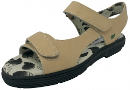 Greenleaf Sport Ladies 2-Strap Spikeless Golf Sandals - Classic Beige