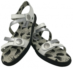 Greenleaf Sport Ladies Unity Spikeless Golf Sandals - White/Silver