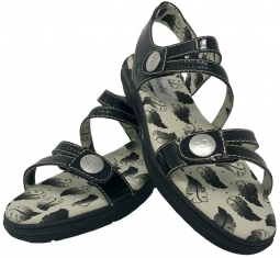 Greenleaf Sport Ladies Unity Spikeless Golf Sandals - Patent Black
