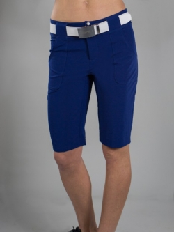950b1f4a4cd6c CLEARANCE JoFit Ladies Belted Bermuda Golf Shorts - Cosmopolitan (Blue  Depth)