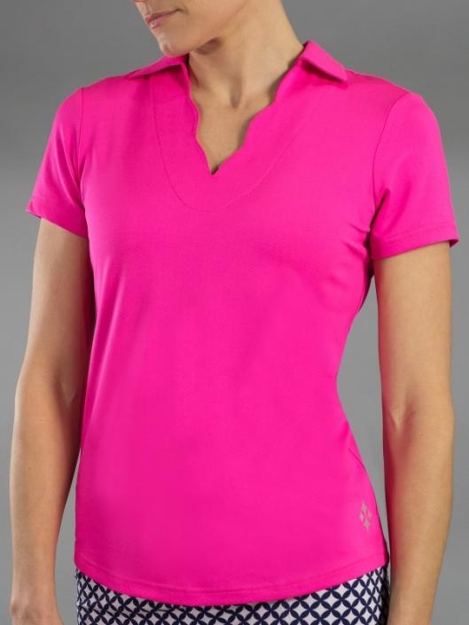 Womens Pink Golf Shirts | Plus Size Womens Golf Shirts