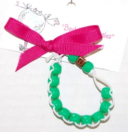 Junior Bead Counter Bracelets - Green