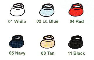 Visor Color Selections