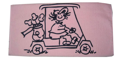 Golf Gals Golf Towels - Pink Cart Gal