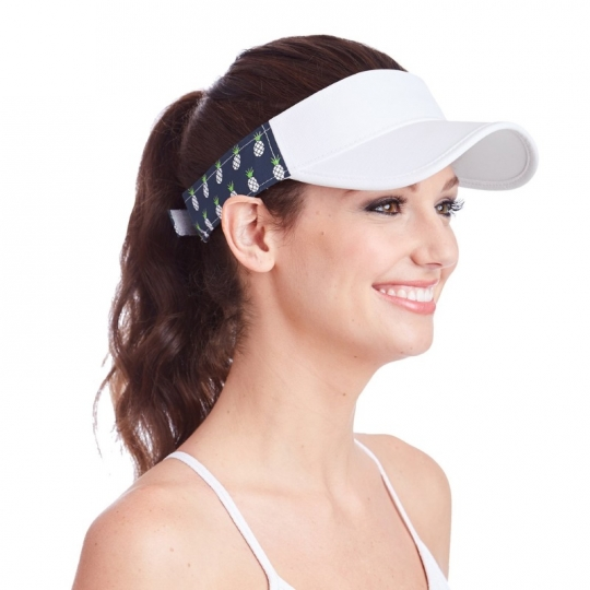 Lori s Golf Shoppe  Ame   Lulu Ladies Head in the Game Visors - Pineapple a77328a07bc