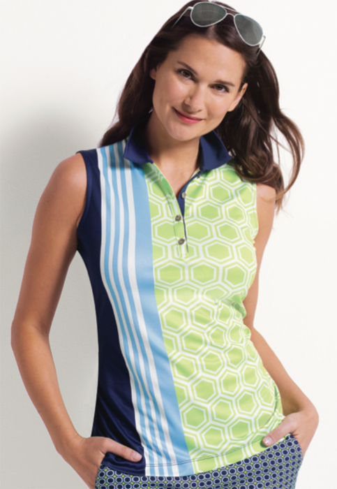 604b80c2e99 Quick View. EP New York Ladies   Plus Size Sleeveless Golf Shirts - Good  Sport (Inky Multi)
