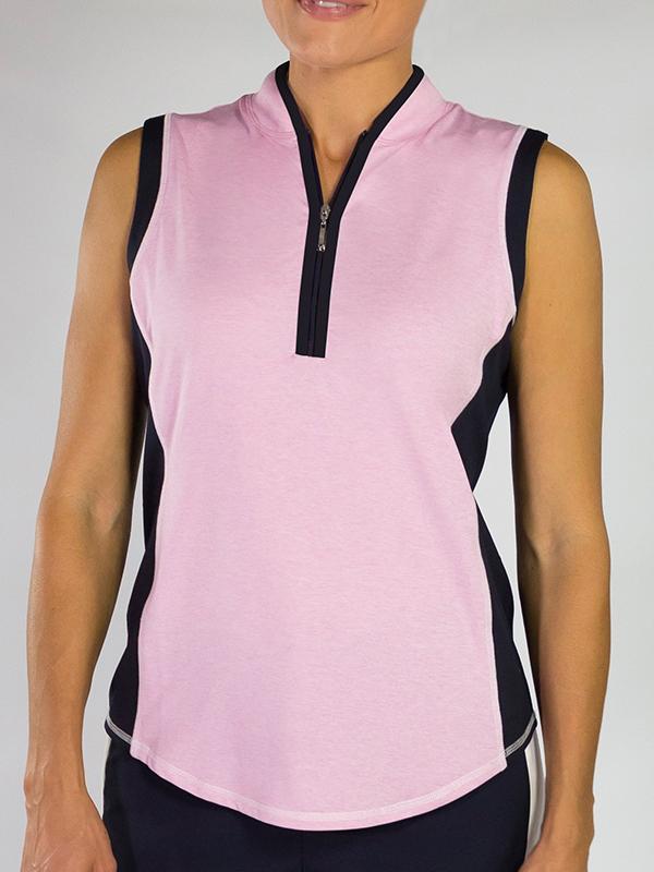 0143d1e5cd55d0 Lori s Golf Shoppe  CLEARANCE JoFit Ladies Interval Sleeveless Mock Golf  Shirts - Bellini (Bloom)